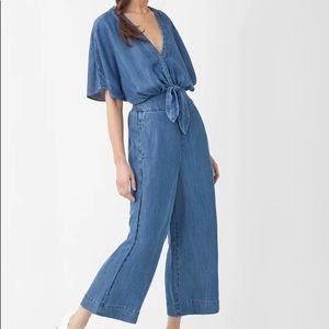 Splendid Chambray Jumpsuit Sz L EUC